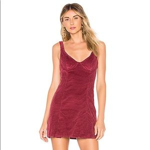 NWT House of Harlow Red corduroy dress. Size small